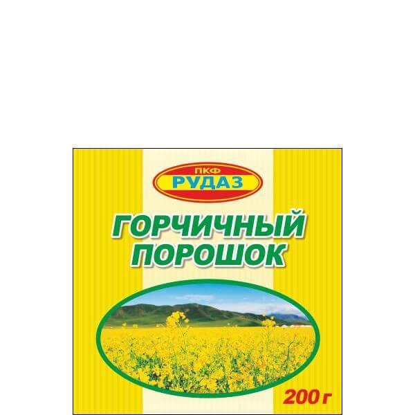 Горчичный порошок 200 гр РУДАЗ